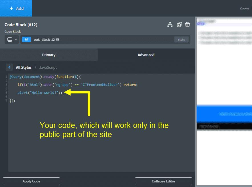 How do I prevent certain javascript from running inside the Oxygen editor?