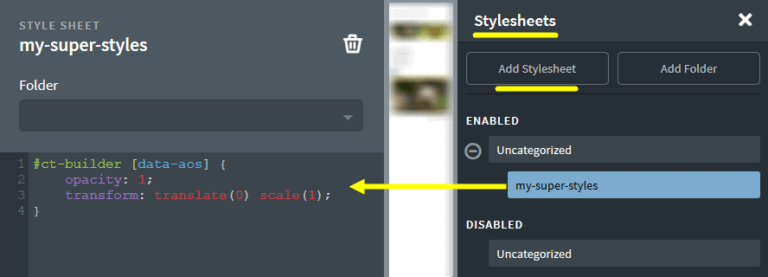 Elements are not visible in the Oxygen editor when using animate on scroll