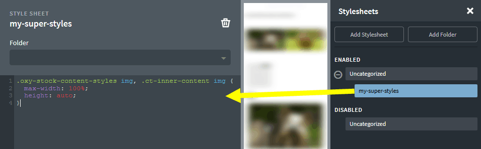 Oxygen bug fix: Images in content are not responsive