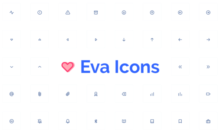 Eva Icons SVG icon set for Oxygen